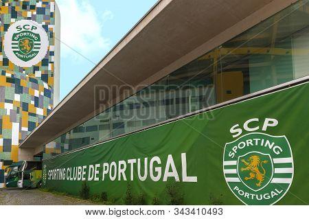 Lisboa, Portugal - April 2018:  Jose Alvalado Arena - The Official Playground Of Fc Sporting