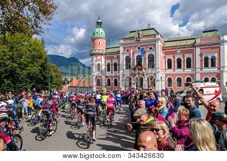 Ruzomberok, Slovakia - September 20: Professional Cyclist At Start Of Race Tour De Slovakia On July