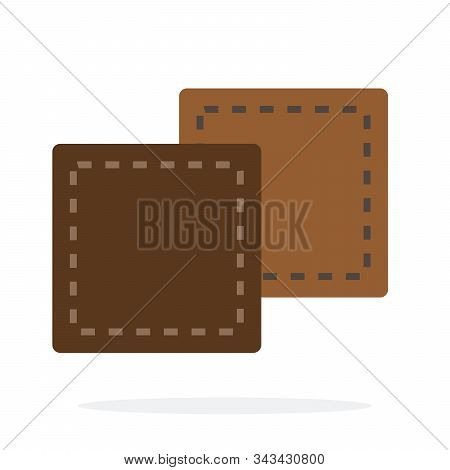 Square Pieces Of Leather Vector Flat Isolated