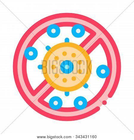 Allergen Free Antibacterial Vector Thin Line Icon. Allergen Free Anti-bacterial Linear Pictogram. Cr