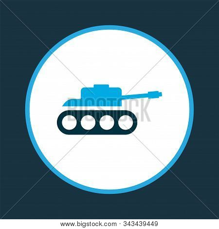 Panzer Icon Colored Symbol. Premium Quality Isolated Tank Element In Trendy Style.