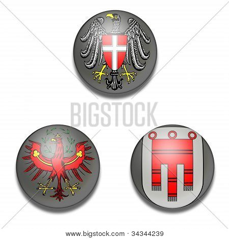 Balls of Coat of arms Austrian state