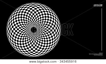 Optical Illusion Vector. Checker Texture. Vector Illustration