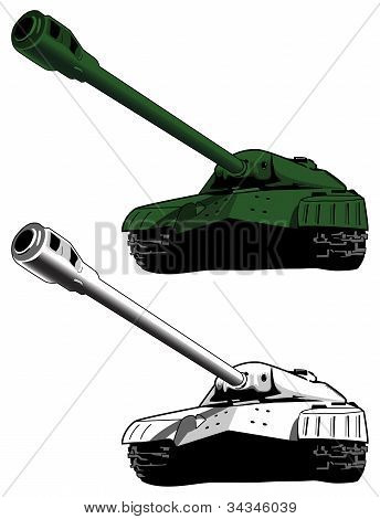 Tank, vector illustration