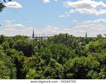 Church Steeples in the distance