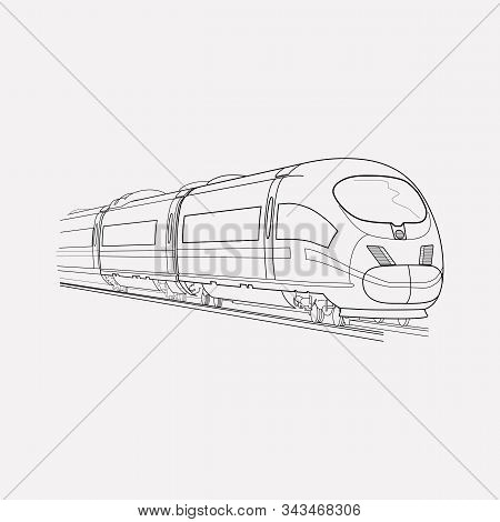 Suburban Train Icon Line Element. Illustration Of Suburban Train Icon Line Isolated On Clean Backgro