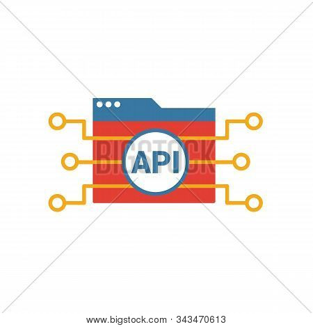 Api Icon. Simple Element From Web Development Icons Collection. Creative Api Icon Ui, Ux, Apps, Soft