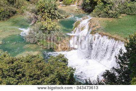 Waterfalls. Croatia. National Park. Water. Cascade. River Krka