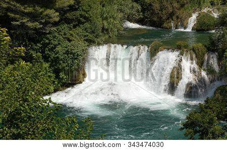 Waterfalls. Croatia. National. Park. Water. Cascade. River Krka
