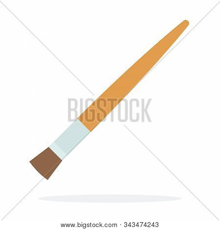 Drawing Brush With Flat Bristles Vector Flat Isolated