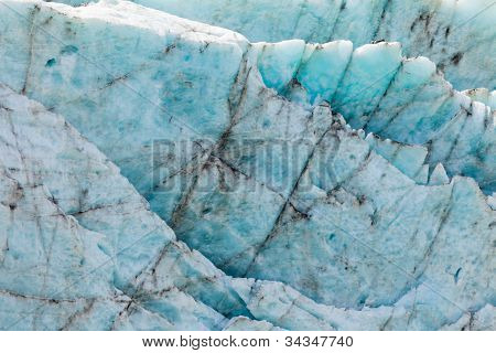 Blue glacier ice background texture pattern