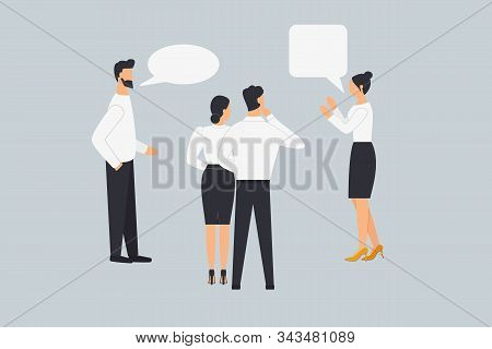A Group Of People Talk, Communicate, Argue And Discuss Business Issues.colleagues Share Their Views.