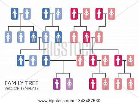 Simple Vector Your Family Tree Design Template