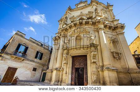 Chiesa Di San Matteo On Via Dei Perroni In Lecce Puglia Italy