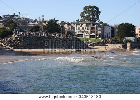 This Is An Image Of A Popular Beach In Monterey, California.
