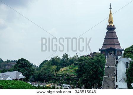 Naphapholphumisiri Che-di, Doi Inthanon National Park, Chiengmai, Thailand