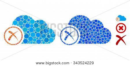 Erase Composition Of Small Circles In Various Sizes And Color Tinges, Based On Erase Icon. Vector Fi