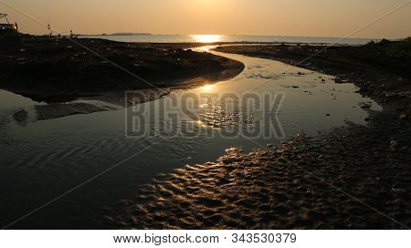 The River Mouth Is Receding, The Texture Of The River Estuary