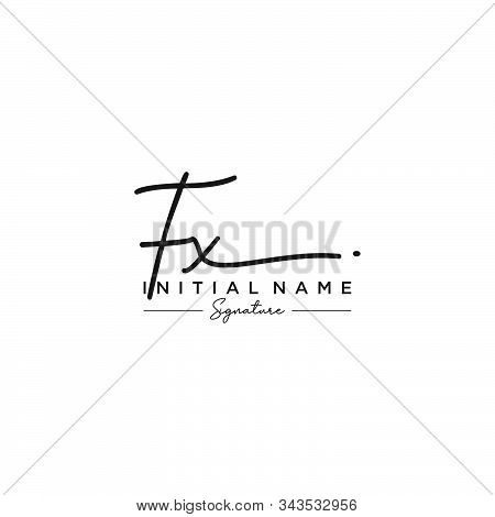 Letter Initial Fx Signature Logo Template Vector
