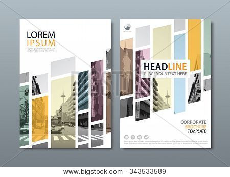 Annual Report Brochure Flyer Design Template Vector, Leaflet Cover Presentation, Book Cover, Layout