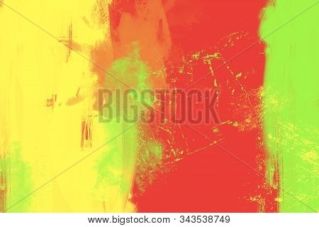 Abstract Oil Painting On Black Background, Art Background
