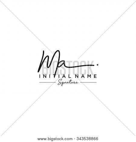 Letter Initial Ma Signature Logo Template Vector