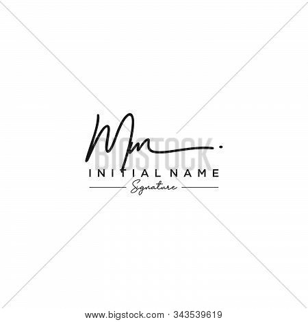 Letter Initial Mm Signature Logo Template Vector