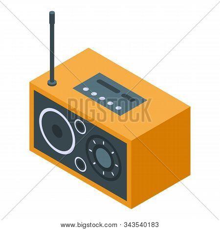 Retro Radio Icon. Isometric Of Retro Radio Vector Icon For Web Design Isolated On White Background