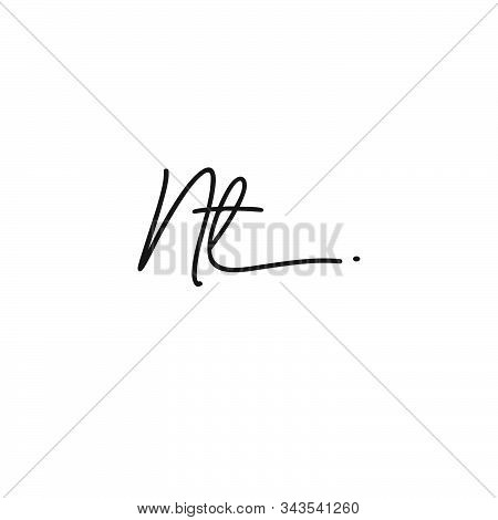 Letter Initial Nt Signature Logo Template Vector