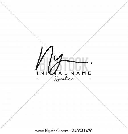 Letter Initial Ny Signature Logo Template Vector