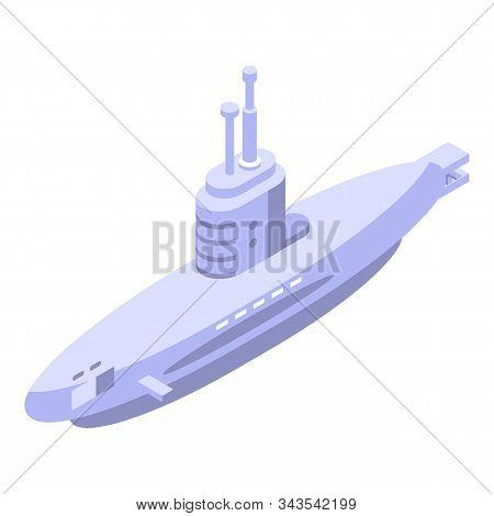Periscope Submarine Icon. Isometric Of Periscope Submarine Vector Icon For Web Design Isolated On Wh