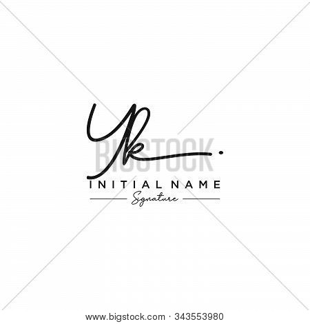 Letter Initial Yk Signature Logo Template Vector