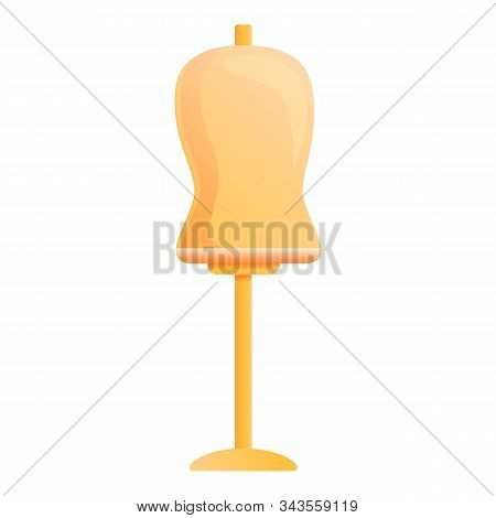 Mannequin Bust Stand Icon. Cartoon Of Mannequin Bust Stand Vector Icon For Web Design Isolated On Wh