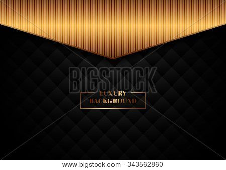 Abstract Template Black Geometric Squares Pattern Design With Dots Lines Grid On Dark Background Wit