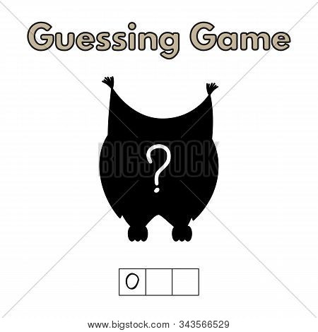 Cartoon Owl Guessing Game. Vector Illustration For Children Education