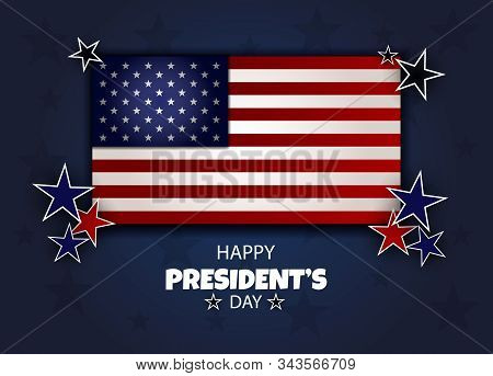 Happy Presidents Day background template.President's Day, Presidents Day, Presidents' Day background, President's Day banners, President's Day flyer, President's Day design, President's Day flag on background, Copy space text area, vector illustration. Ba