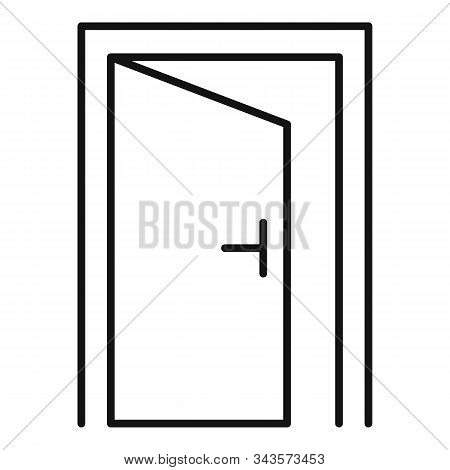Open Door Quest Icon. Outline Open Door Quest Vector Icon For Web Design Isolated On White Backgroun