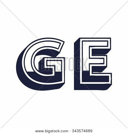 Georgia Country Code Icon. Iso Code Country Domain Name. Ge - Georgia Abbreviated. Stock Vector Illu