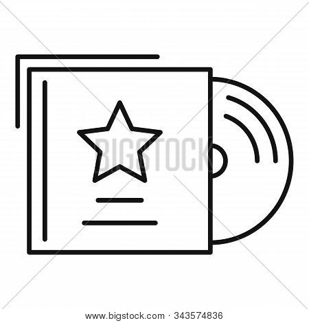 Music Cd Icon. Outline Music Cd Vector Icon For Web Design Isolated On White Background