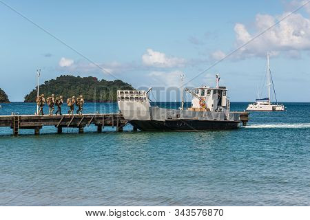 Embarkation Of French Soldiers To The Landing Craft In Les Trois-ilets, Martinique