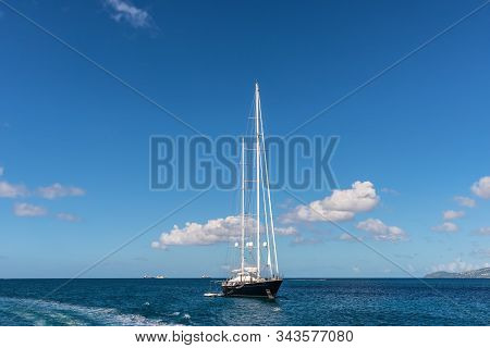 Yacht In The Harbor Of Fort-de-france, Martinique
