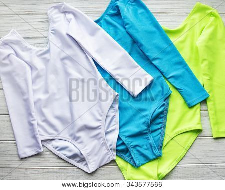 Girl's Leotard With Long Sleeves