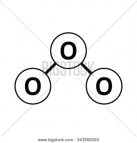 Ozone Molecule Icon On White Background. Vector Illustration.