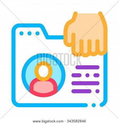 Identity Theft Icon Vector. Outline Identity Theft Sign. Isolated Contour Symbol Illustration