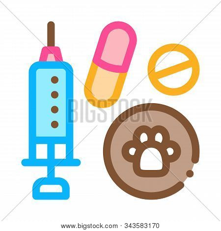 Pet Medicaments Icon Vector. Outline Pet Medicaments Sign. Isolated Contour Symbol Illustration