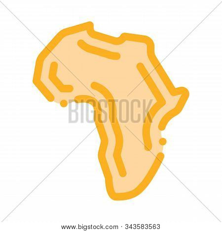 Continent Icon Vector. Outline Continent Sign. Isolated Contour Symbol Illustration