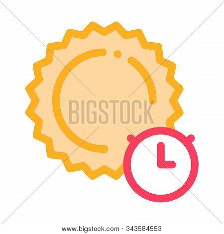 Sunburn Icon Vector. Outline Sunburn Sign. Isolated Contour Symbol Illustration
