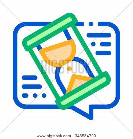 Lengthy Negotiations Icon Vector. Outline Lengthy Negotiations Sign. Isolated Contour Symbol Illustr