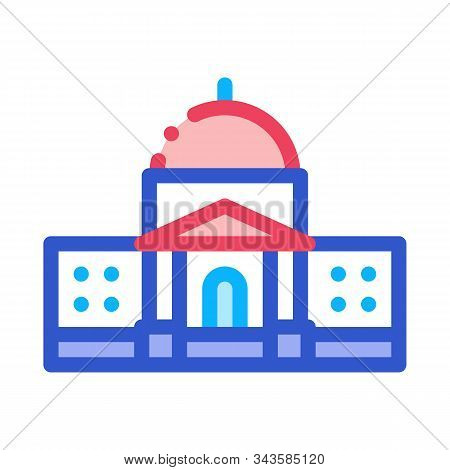 Congress Icon Vector. Outline Congress Sign. Isolated Contour Symbol Illustration