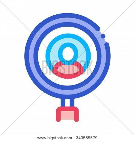 Inspection Of Voter Icon Vector. Outline Inspection Of Voter Sign. Isolated Contour Symbol Illustrat